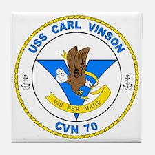 US Navy USS Carl Vinson CVN 70 Tile Coaster