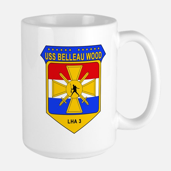 US Navy USS Belleau Wood LHA 3 Large Mug