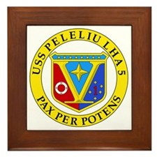US Navy USS Peleliu LHA 5 Framed Tile