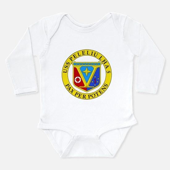 US Navy USS Peleliu LHA 5 Long Sleeve Infant Bodys