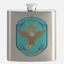 US Navy 7th Fleet Emblem Flask