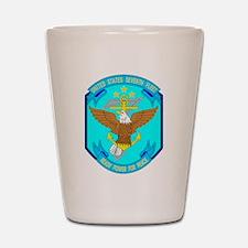 US Navy 7th Fleet Emblem Shot Glass
