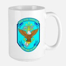 US Navy 7th Fleet Emblem Large Mug