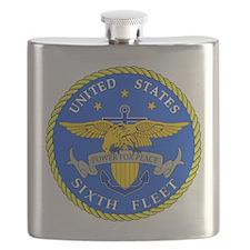 US Navy 6th Fleet Emblem Flask