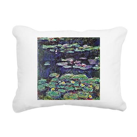 Claude Monet Water Lilies Rectangular Canvas Pillo