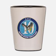 US Navy 10th Fleet Emblem Shot Glass