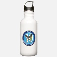 US Navy 10th Fleet Emblem Water Bottle