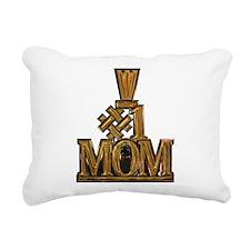 #1 Mom Rectangular Canvas Pillow