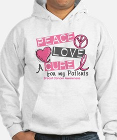 Peace Love A Cure For Breast Cancer Hoodie