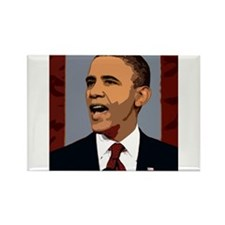 Obama Graphic Rectangle Magnet