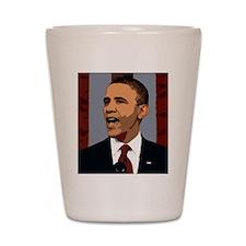 Obama Graphic Shot Glass