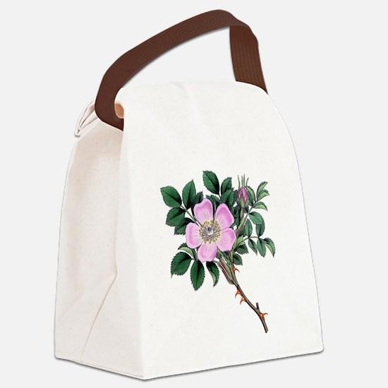 Dog Rose Canvas Lunch Bag