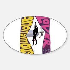 Anonymous Lover Sticker (Oval)