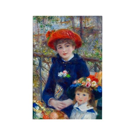 Renoir - Two Sisters Rectangle Magnet