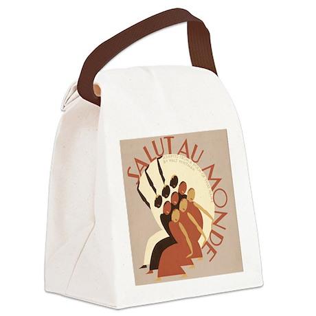 Salut au Monde Canvas Lunch Bag