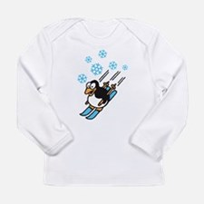 penguin ski Long Sleeve Infant T-Shirt