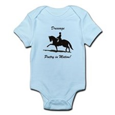 Dressage Poetry in Motion Horse Infant Bodysuit