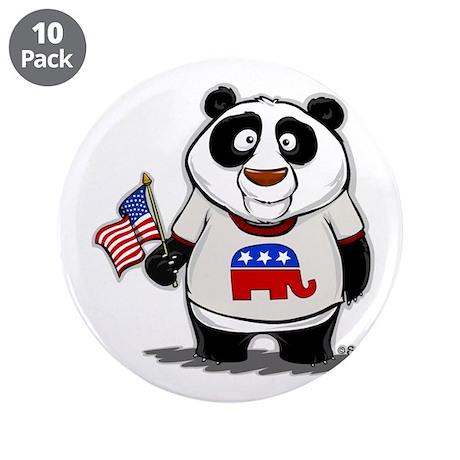 "Panda Politics Republican 3.5"" Button (10 pack)"