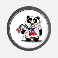 Panda Politics Republican Wall Clock