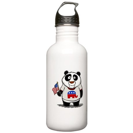 Panda Politics Republican Stainless Water Bottle 1