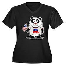 Panda Politics Republican Women's Plus Size V-Neck