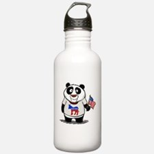 Panda Politics Democrat Water Bottle