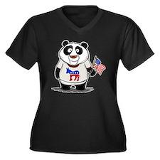 Panda Politics Democrat Women's Plus Size V-Neck D