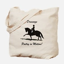 Dressage Poetry in Motion Horse Tote Bag