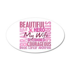 Tribute Square Breast Cancer Wall Decal
