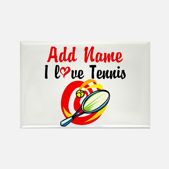 I LOVE TENNIS Rectangle Magnet (10 pack)
