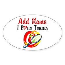 I LOVE TENNIS Decal