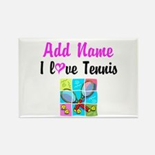 I LOVE TENNIS Rectangle Magnet