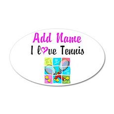 I LOVE TENNIS Wall Decal