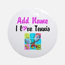 I LOVE TENNIS Ornament (Round)