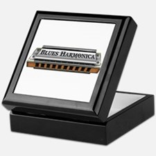 Blues Harmonica Keepsake Box