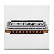 Blues Harmonica Tile Coaster