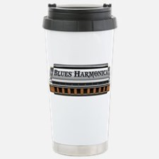 Blues Harmonica Stainless Steel Travel Mug