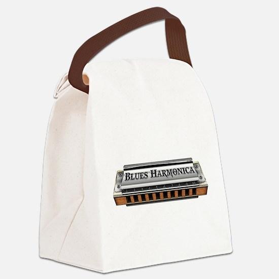 Blues Harmonica Canvas Lunch Bag