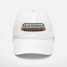 Blues Harmonica Baseball Baseball Cap