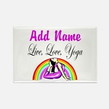 I LOVE YOGA Rectangle Magnet
