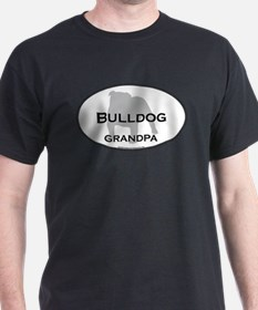 Bulldog GRANDPA Black T-Shirt