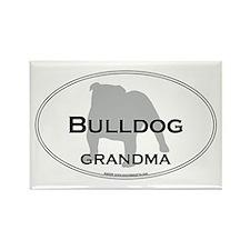 Bulldog GRANDMA Rectangle Magnet