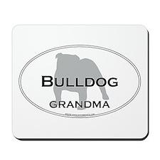 Bulldog GRANDMA Mousepad