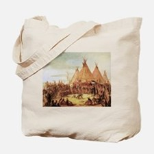 George Catlin Sioux War Council Tote Bag
