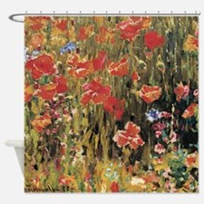 Robert Vonnoh Poppies Shower Curtain