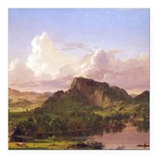 Frederic Edwin Church At Home On The Lake Square C