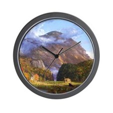 Thomas Cole A View Of The Mountain Pass Wall Clock
