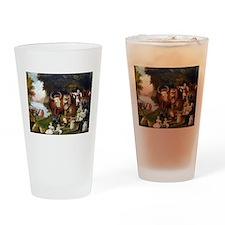 Edward Hicks Peaceable Kingdom Drinking Glass