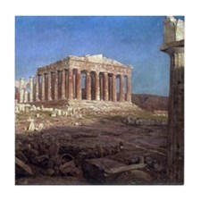 Frederic Edwin Church The Parthenon Tile Coaster