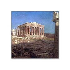 Frederic Edwin Church The Parthenon Square Sticker